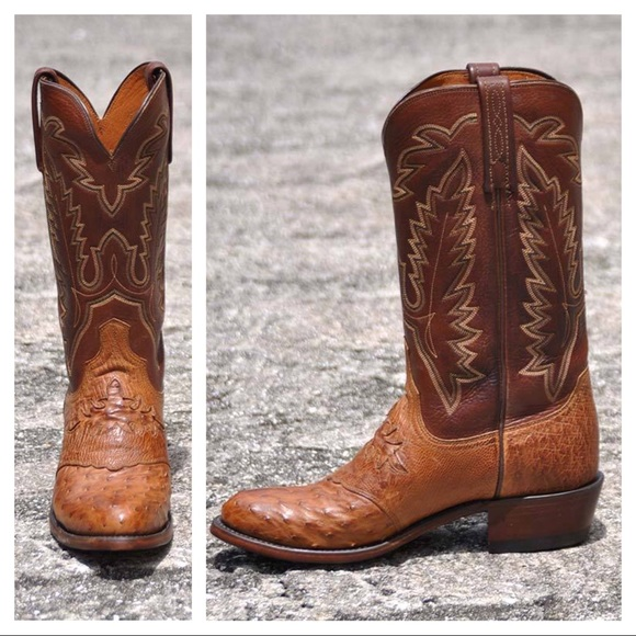 Lucchese Other - NEW Lucchese Diego ostrich inlay men's boots